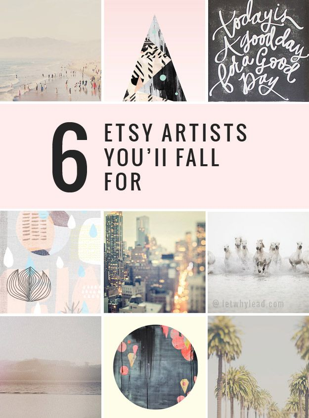 Looking for some inexpensive art to spruce up your home this spring? / 6 Etsy Aritsts You'll Fall For
