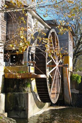 This is the third wheel at The Old Mill (since 1830).  The first two were lost in floods.