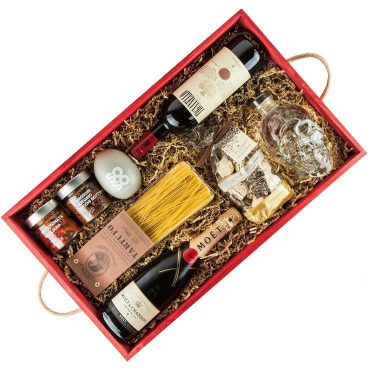 Entdecken Sie diesen Präsentkorb auf korbfabrik.com. Sie können sich in unserem Konfigurator Ihren ganz persönlichen Geschenkkorb zusammenstellen und nach Belieben mit hochwertigen Produkten, wie Wein, Spirituosen und Feinkost, befüllen.