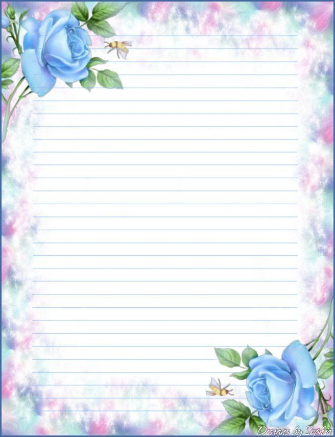 This is a picture of Monster Lined Stationery Printable