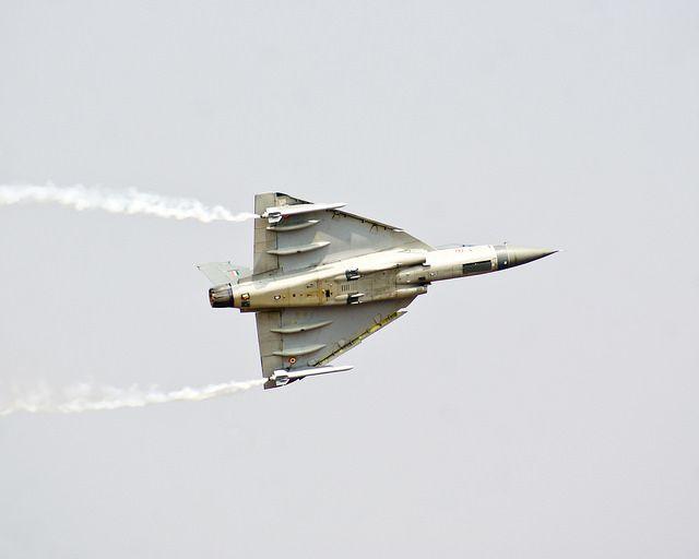A Mirage 2000 aircraft at Aero India Show 2013.