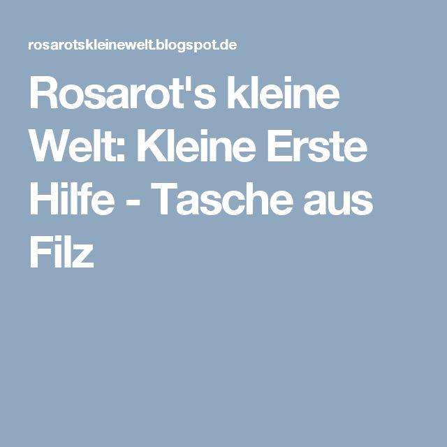 Rosarot's kleine Welt: Kleine Erste Hilfe - Tasche aus Filz