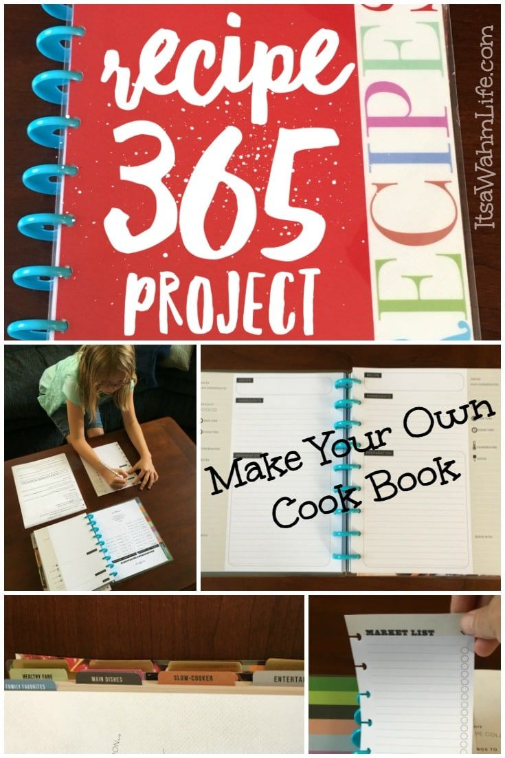 Make Your Own Cookbook {Recipe 365 Project} ItsaWahmLife.com …