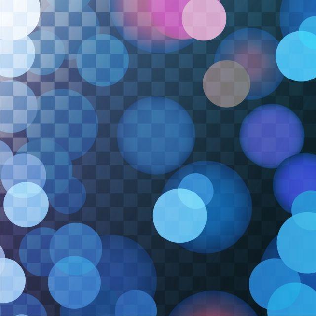 Transparent Blue Light Effect Bokeh Background Bokeh Background