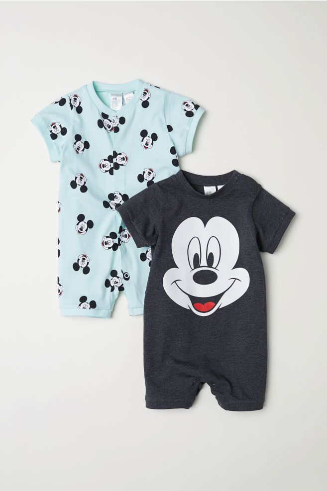 780c88bb0 Pack de 2 pijamas enteros - Gris oscuro Mickey Mouse - NIÑOS