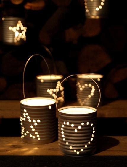 Reciclaje faroles de papel chinos and latas recicladas on pinterest - Farolillos para velas ...