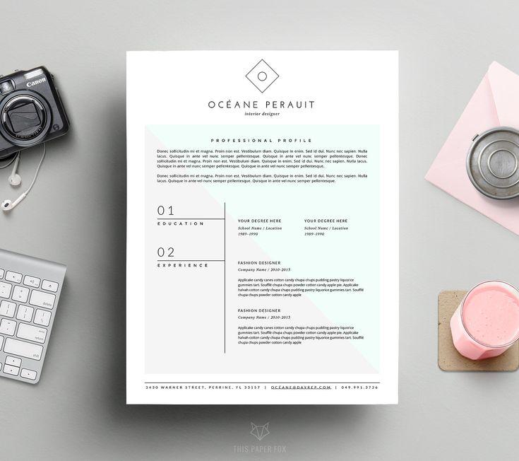 Minimal + Hipster Resume Template - Resumes - 1