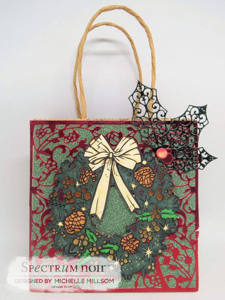 Christmas Gift Bag Designed by Michelle Millsom. Colourista Foil Pad - Christmas Morning. Colourista Holiday Markers.