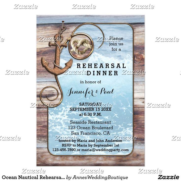 Ocean Nautical Rehearsal Dinner Invitation