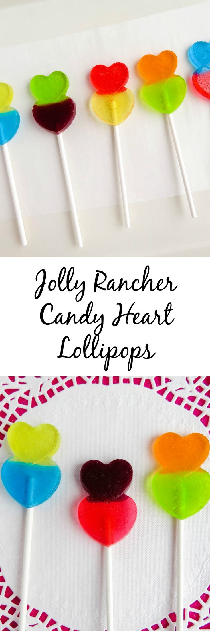Jolly Rancher Candy Heart Lollipops--the perfect sweet treat!