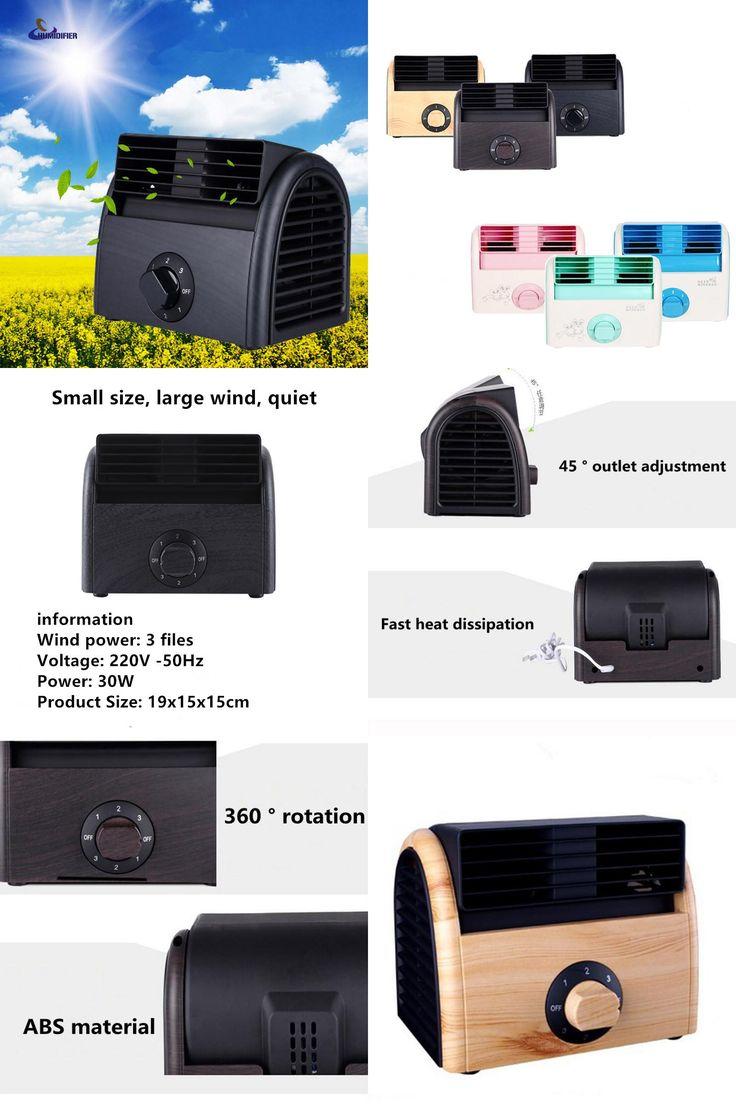 [Visit to Buy] 220V New Portable desk fan Cooling Desktop Fan 30W Bladeless Fan Ventilateur Sans Pales Tower fan #Advertisement
