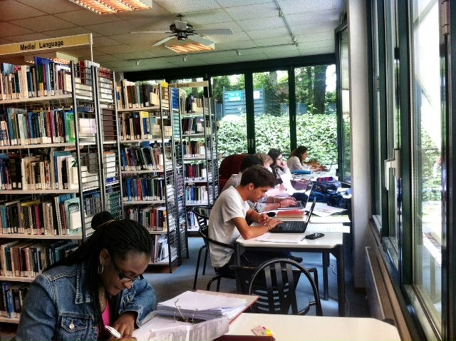 Students working hard on Ascension Day - Final exams of Spring 2! Good luck!