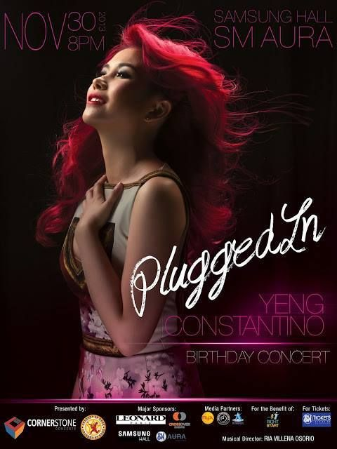 Plugged In: Yeng Constantino Birthday Concert on November 30, 8 PM at Samsung Hall, SM Aura #OPM #Pinoy #Philippines #Manila #Pilipinas #Asia #Pinas #concert #music #rock #pop #event