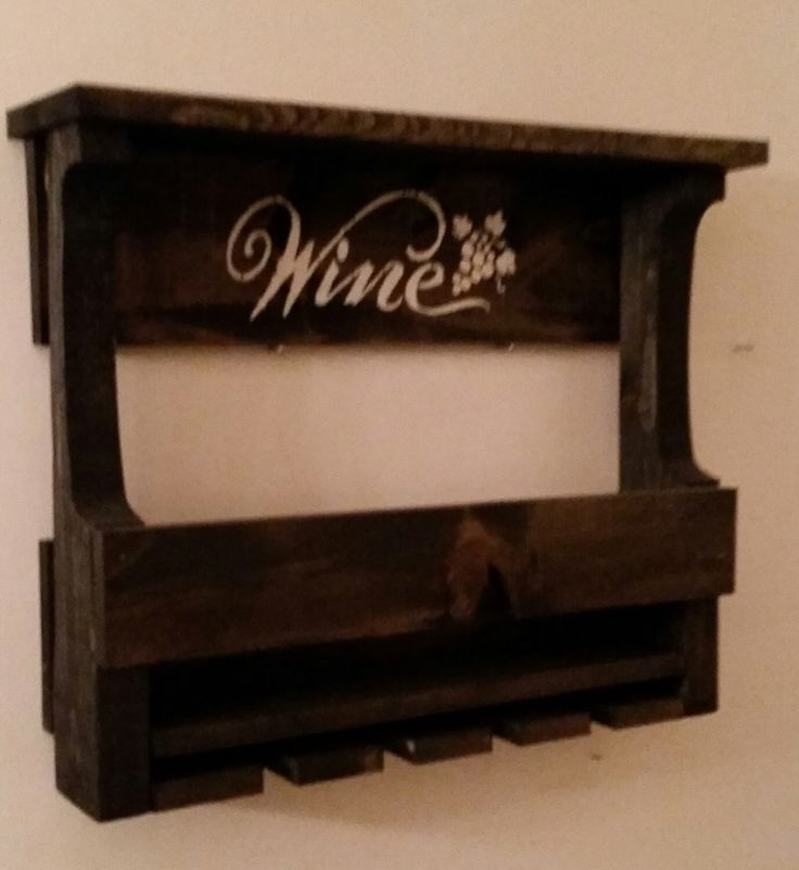 Pallet Wine Rack // Rustic Pallet wine Rack // Liquor Cabinet // Man Cave // Ebony Wine Rack // Bar // Wooden Wine Rack by KDMWoodcrafts on Etsy https://www.etsy.com/listing/263426162/pallet-wine-rack-rustic-pallet-wine-rack