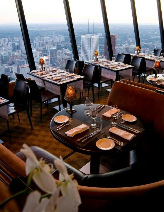 The Restaurant at the CN Tower , Ontario, Canada....5 Restaurents Views Around The World Not To Miss Out On