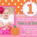 Pumpkin Birthday Invitation Fall Pumpkin 1st Birthday Party Invitation Boys or Girls. $15.00, via Etsy.