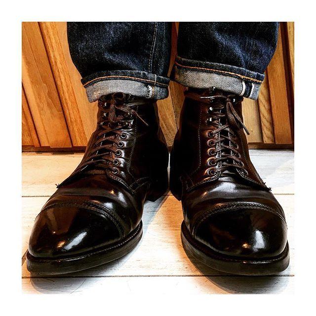 2017/03/10 18:12:20 shintaro6151985 晴れの日はやっぱりコードバンにリーバイス501の66後期#alden #メンズファッション #リーバイス501#ビンテージ#革靴#コードバン#オールデン#ラコタハウス#鏡面仕上げ