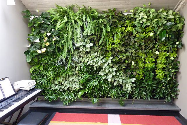 """Create """"living walls"""" with Florafelt ready-made vertical planters."""