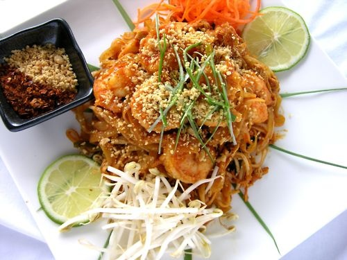 Pad thai - preferably from Siam House in Bloomington, IN. Orrr Sawasde in Indy