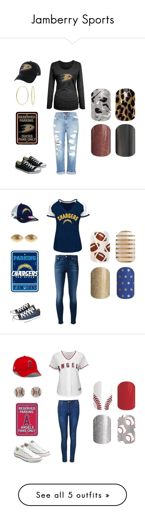 """Jamberry Sports"" by kellie-guravich-medivitz on Polyvore featuring Genetic Denim, Bling Jewelry, Converse, 7 For All Mankind, New Era, Fornash, Ally Fashion, Majestic, adidas and Paige Denim"