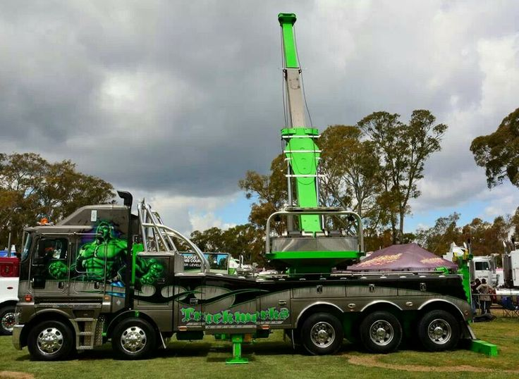 KW big rig wreckerrotator  Big rigs  Big rig trucks
