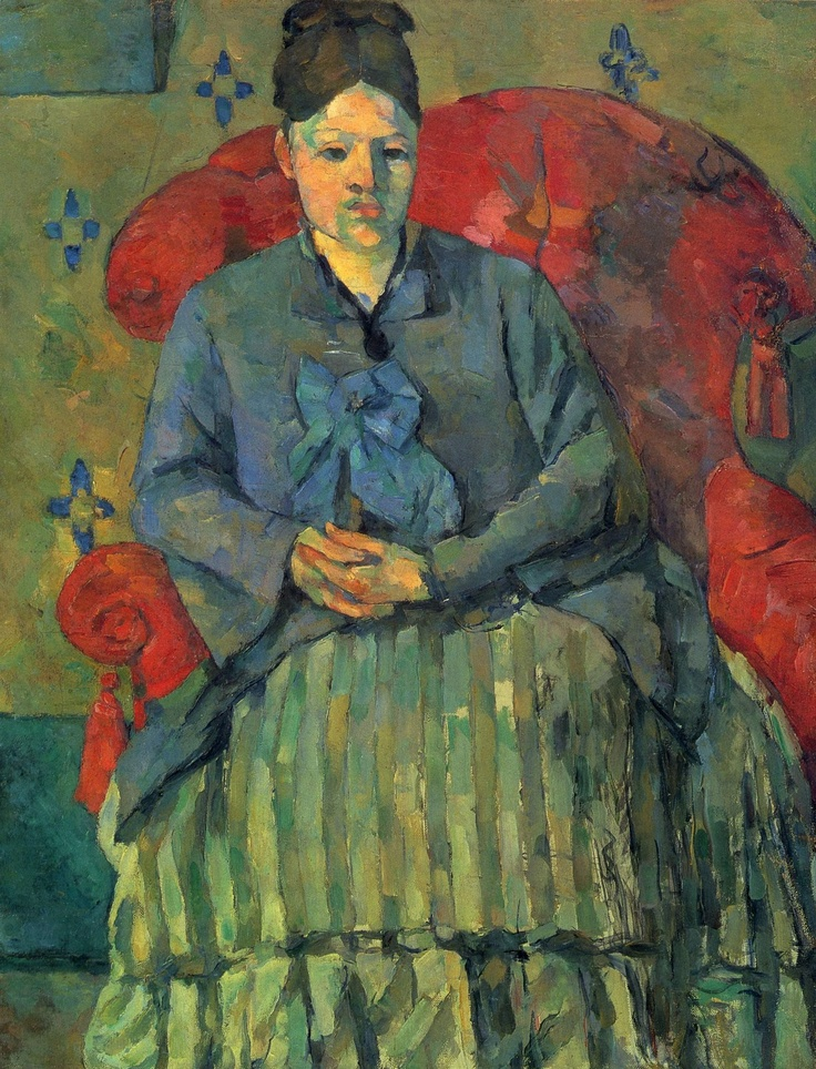 Paul Cézanne (1839-1906), Madame Cézanne with striped skirt, c.1877, oil on canvas, Museum of Fine Arts (Boston)