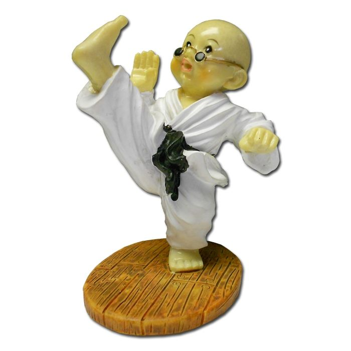 high kicking kung fu monk now available from martial arts gifts. Black Bedroom Furniture Sets. Home Design Ideas