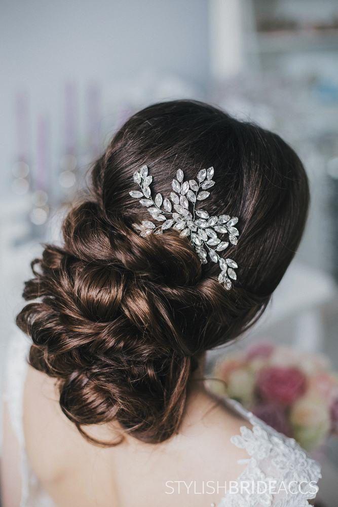 Bridal Crystal Hair Comb, Crystal Hair Wedding Comb, Crystal Wedding Hair Comb, Hair Accessories, Crystal Bridal Comb, Bridal Hairpiece by StylishBrideAccs on Etsy
