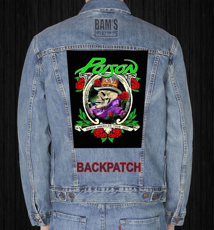 POISON  GIANT BACKPATCH #Unbranded