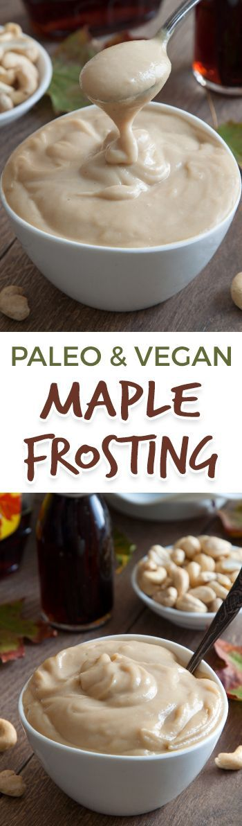 This vegan paleo maple cream frosting is maple-sweetened, cashew-based and super creamy! The perfect frosting for pumpkin cake and other fall desserts.