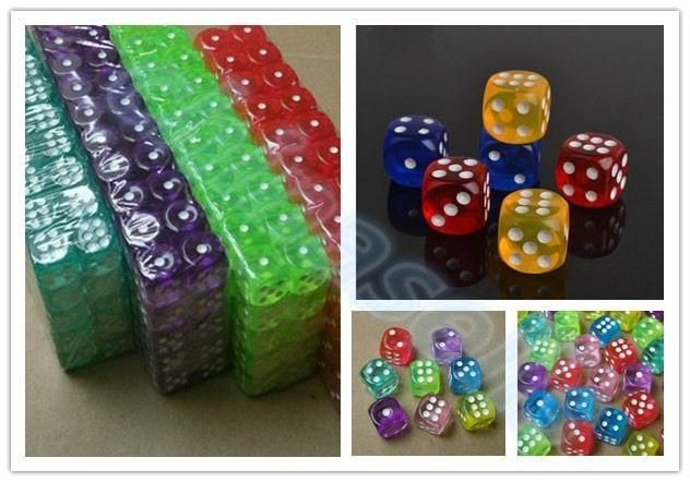 [Visit to Buy] 10pcs Transparent Poker Chips dice 14mm Six Sided Spot Fun Board game Dice D&D RPG Games Party Dice Gambling Game Dices #Advertisement