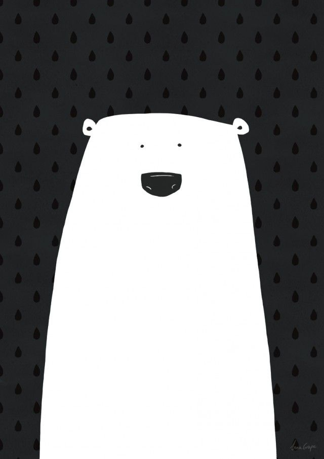 Polar bear || Grape design