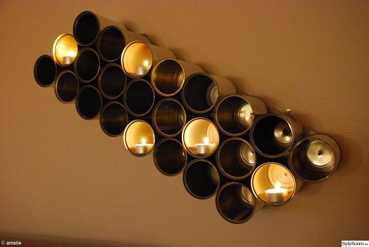 ljuslykta,ljusstake,ljusdesign,konservburk,diy
