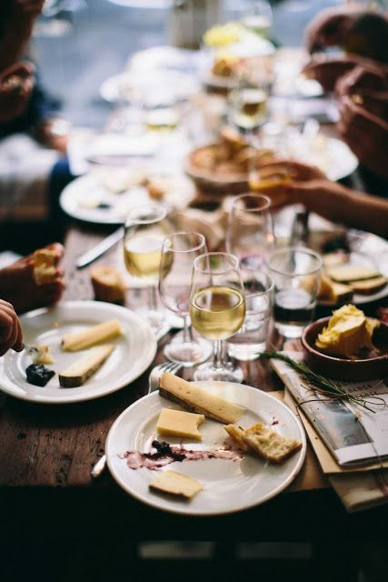 food, friends, and wine.
