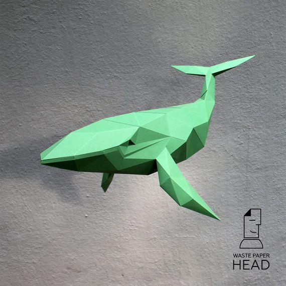 Papercraft whale - printable DIY template by WastePaperHead