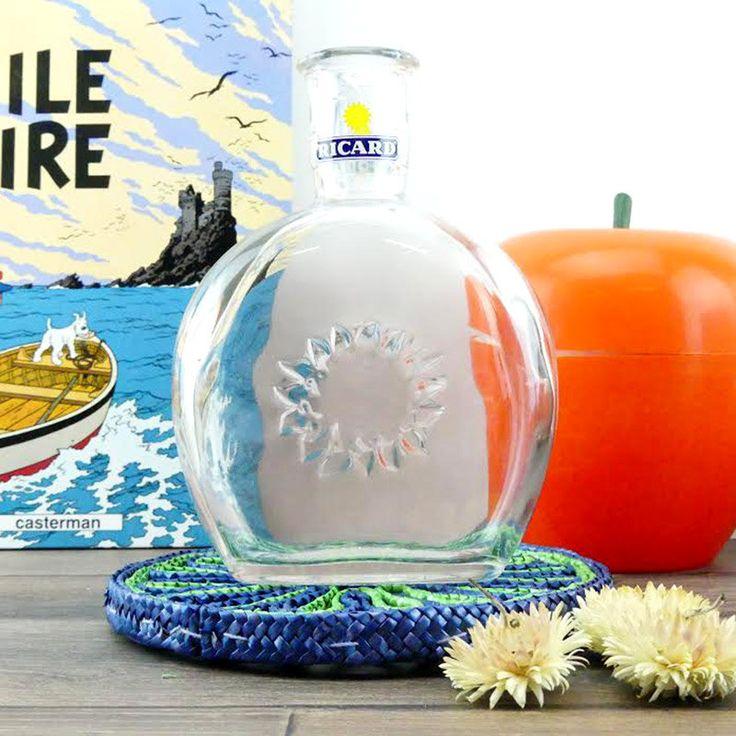 Carafe Ricard Bistrot Français Vintage - Pastis carafe à eau - Pastis Water Picther - French Jug Ricard - Vintage Jug - French Barware de la boutique ChezUlysseVintage sur Etsy
