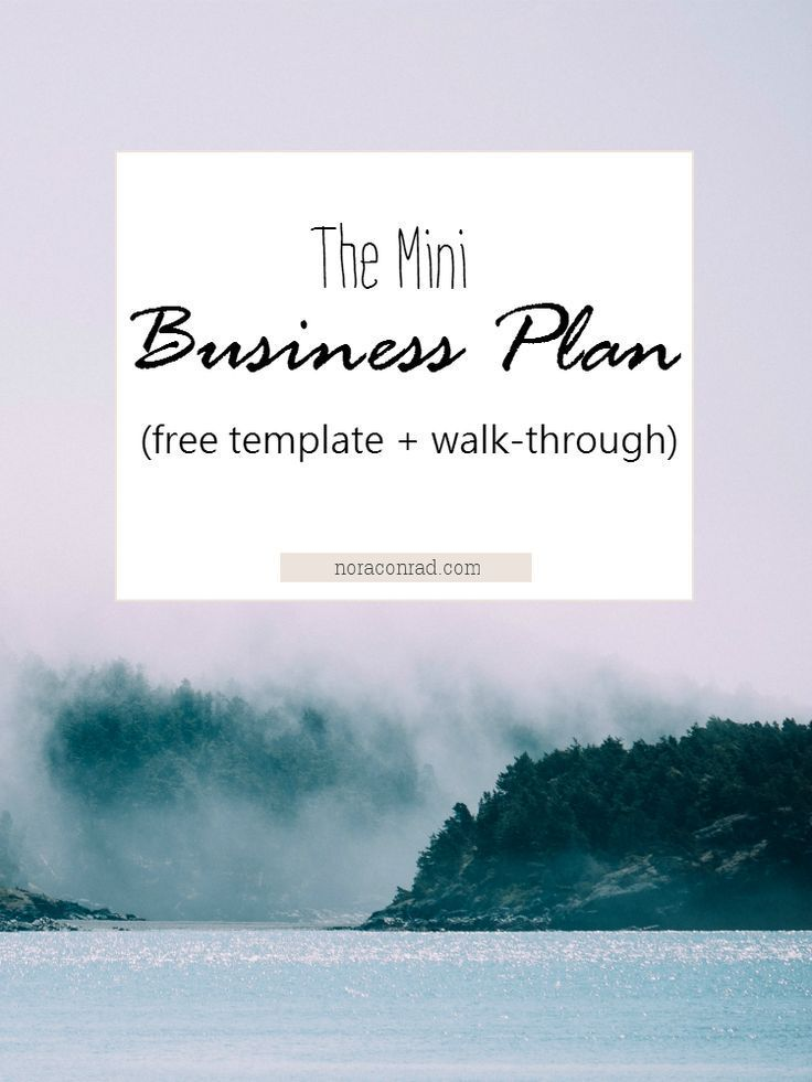 how to create need business plan