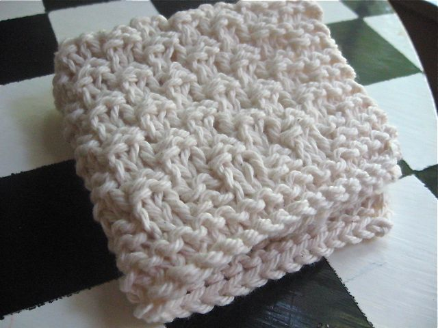 Knitted Moss Stitch Dishcloth Pattern : Ramen Noodle knitted dishcloth you can knit hanging from the monkey bars??? W...