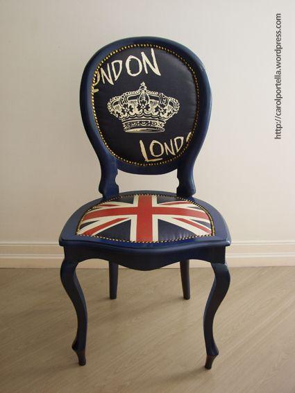 London Love and British flag chair