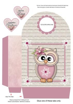 Winter Ollie Large Gift Bag on Craftsuprint designed by Janet Roberts - This gift bag goes with my 'Winter Ollie' mini kit ...... please see the link below - Now available for download!