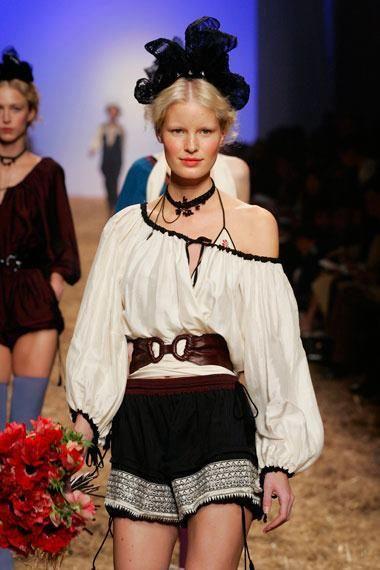 The #RomanianBlouse style. Jean Paul Gaultier. 2006