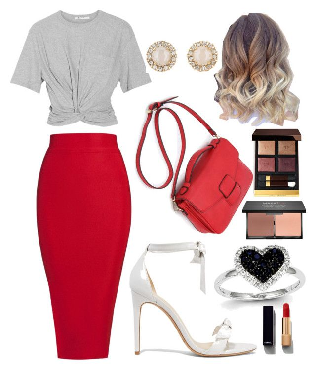 """""""Business Look"""" by diyloving on Polyvore featuring T By Alexander Wang, Posh Girl, Alexandre Birman, Kate Spade, Kevin Jewelers, Chanel, blacklUp and Tom Ford"""