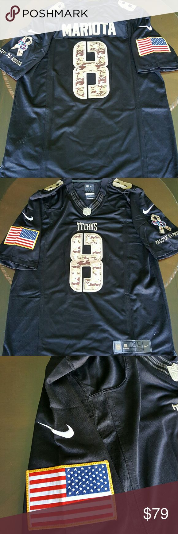 """Marcus Mariota Tennessee Titans XL Jersey Adult Brand New, Adult XL, everything is sewn on,  from a smoke free and pet free home, length is approximately 31""""  and width is approximately 22"""" Tops Tees - Short Sleeve"""