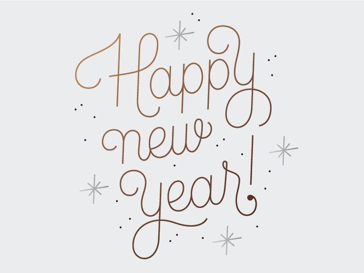 Happy New Year typography - can use the same idea for Christmas card