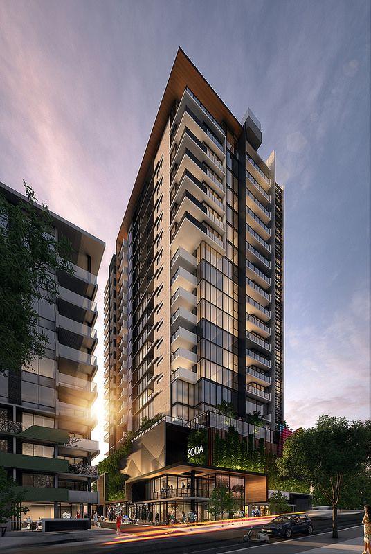 Building Facade, Modern Architecture, Soda, Condo Design, Facades, Brisbane,  Condominium, Villas, Tower