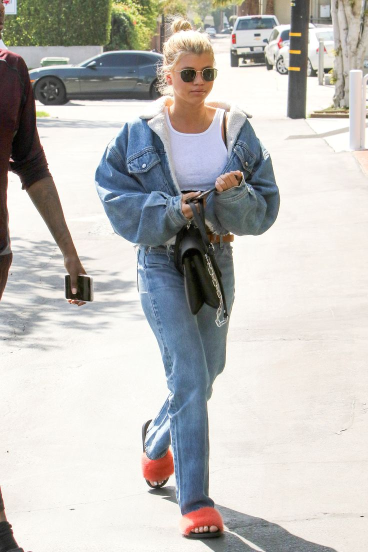 Sofia Richie's Fluffy Shoes Make Her Outfit, and You Can Buy Them Too via @WhoWhatWear