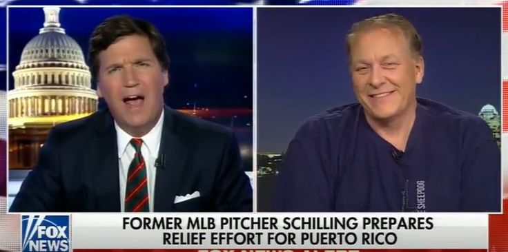 "In view of the ""tweetstorm at ESPN over Jemele Hill's recent charge that President Trump and his supporters are white supremacists, Curt Schilling's appearance on Tucker Carlson's Fox News program tonight could not have been more timely. The former baseball all-star and ex-ESPN baseball analyst said he's not surprised at all that the sports network which fired him let Hill skate free after her incendiary comments."