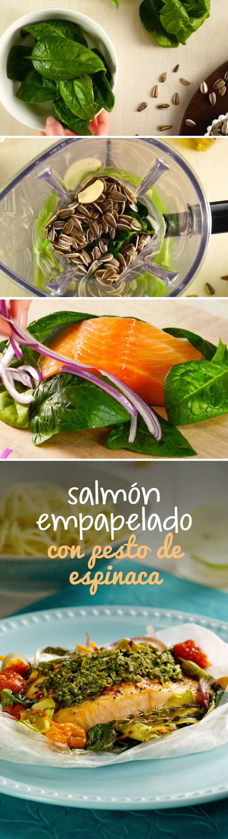 Día 1 del #RetoKiwilimón: disfruta de un delicioso salmón empapelado que puedes preparar en el horno o directamente en un sartén. Una receta rápida que te ayudará a bajar de peso.