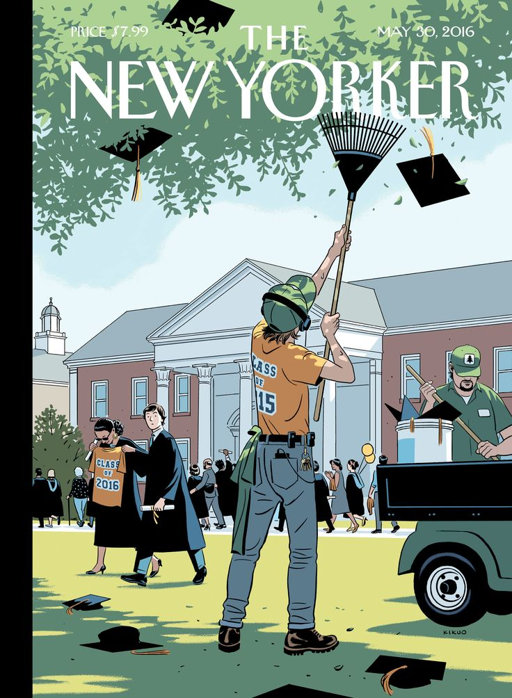 "The New Yorker - Monday, May 30, 2016 - Issue # 4641 - Vol. 92 - N° 16 - Cover ""Commencement"" by R. Kikuo Johnson"