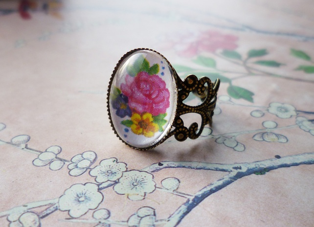 Pink Floral Ring £4.00